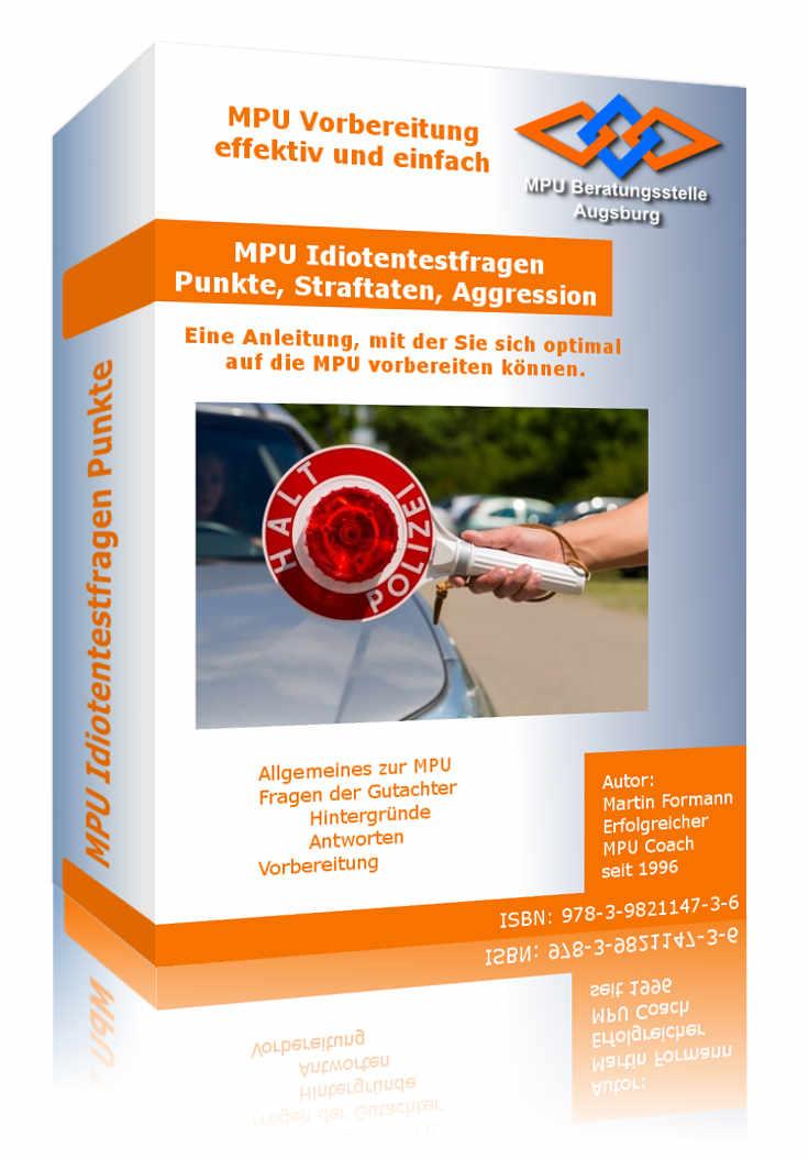 Buch MPU Idiotentest Fragen PDF für Punkte, Straftaten, hohes Aggressionspotential